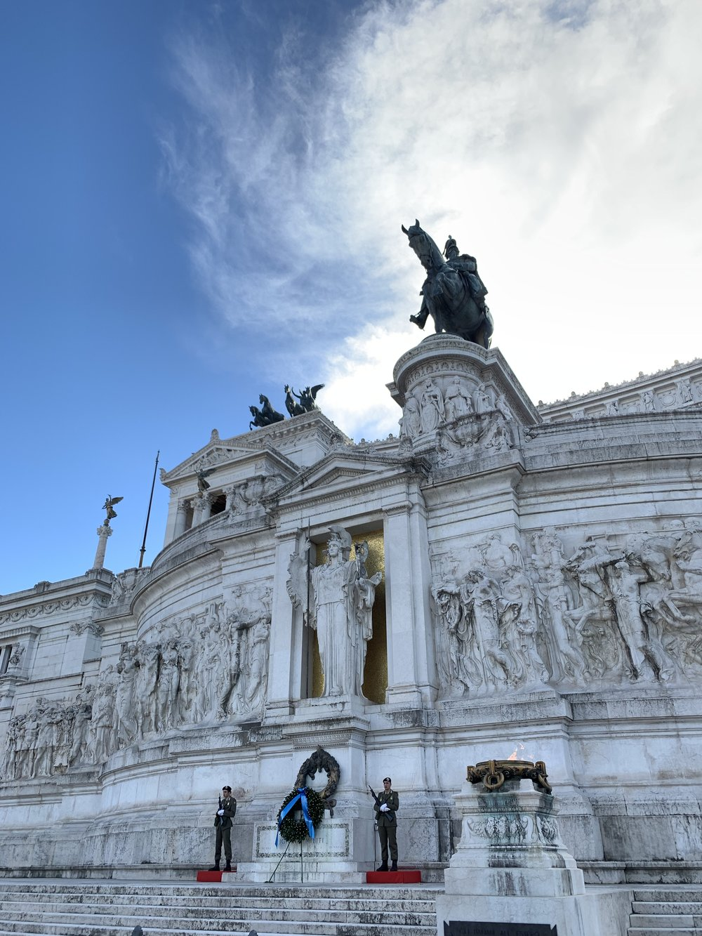 People who know about such things might hate the architecture, but I love the elaborate Monumento Nazionale a Vittorio Emanuele II, which houses the tomb of the unknown solider