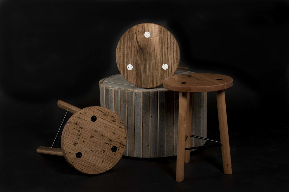 Three Mika Stools