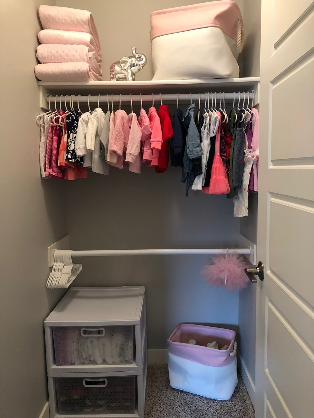 AFTER - Everything in this closet is now visible and easily accessible!