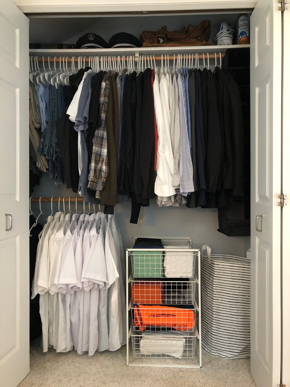 AFTER - With everything in one place, it is now easy for him to pack for his trips.