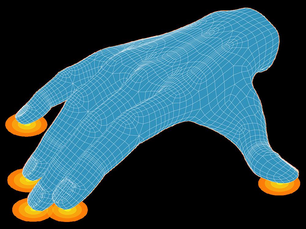 Hand sensor graphic