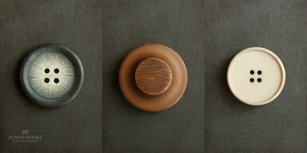 Vintage Buttons Triptych