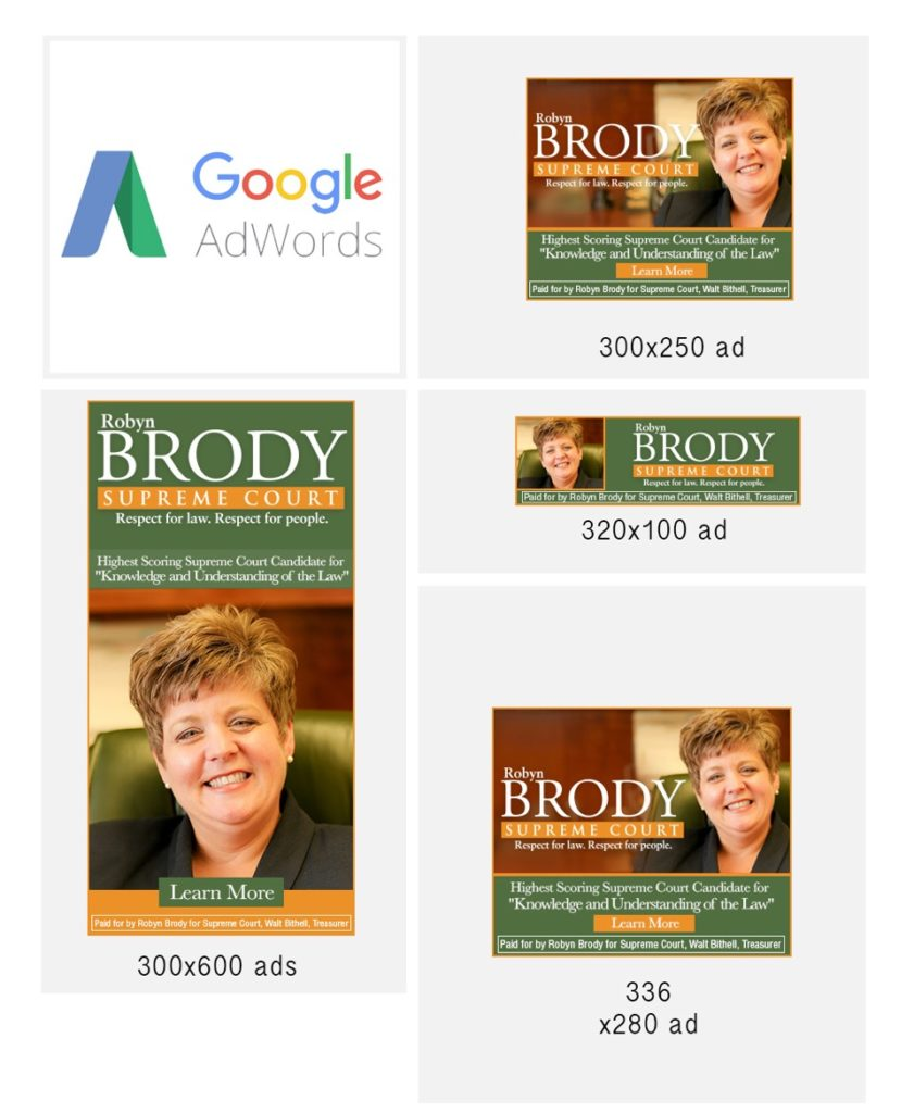Robyn Brody's Google AdWords campaign