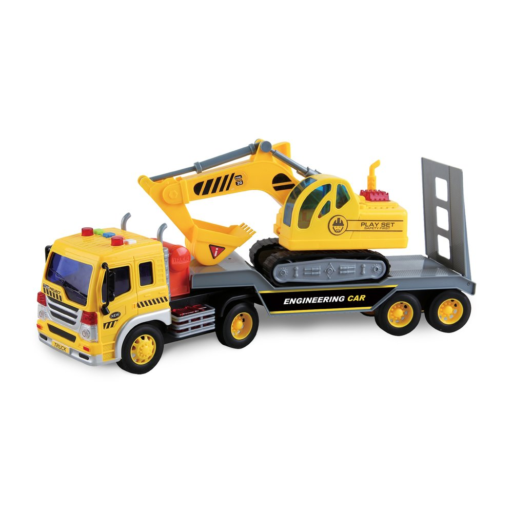 Maxx Action Long Hauler with Excavator Truck