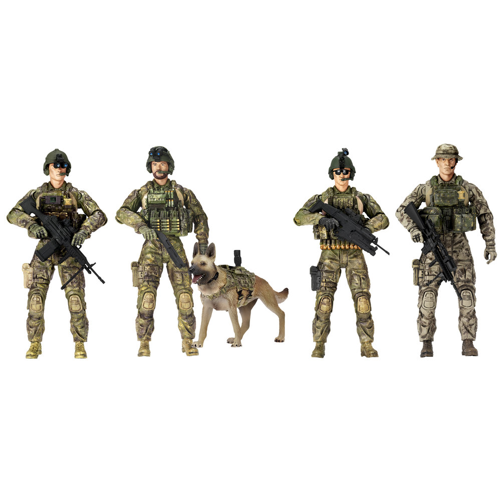 Elite Force Army Rangers 5 Pack Figures