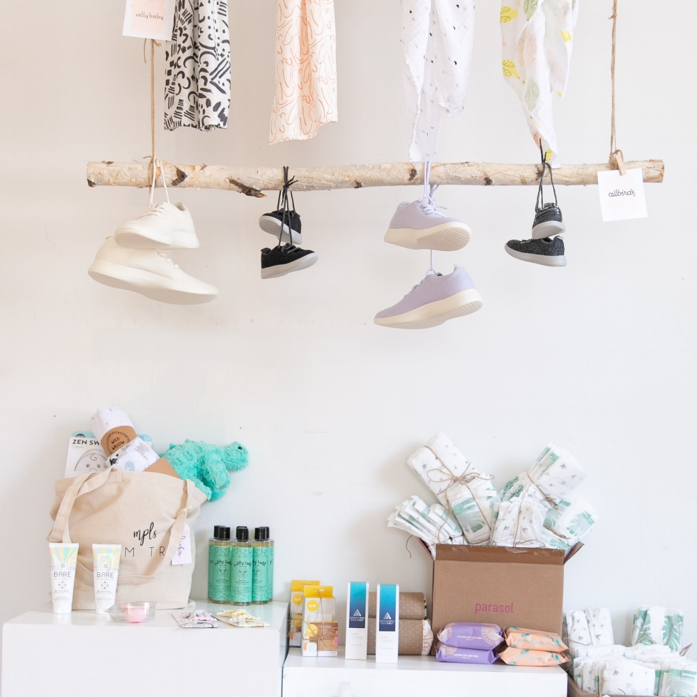 PRODUCT BAR + SWAG - The product bar was a great part of the event. In Minnesota there are very few baby oreinted independent retailers and our access is limited to great brands. It was an honor to introduce these women to these brands and products.