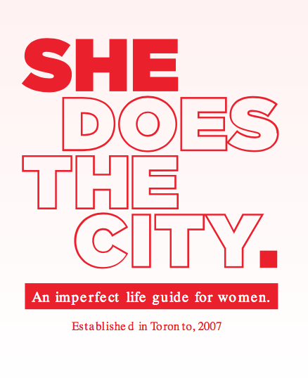 SHE DOES THE CITY LOGO