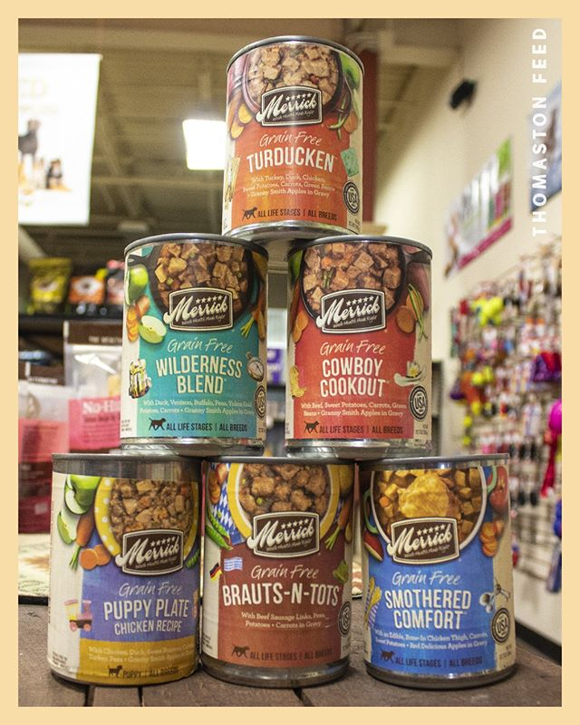 We are quite pawsitive your dog will love @merrickpetcare food selection!  This tasty selection will leave your pup feeling satisfied with their meal.  Be sure to ask us about it on your next visit to #ThomastonFeedNJ !
