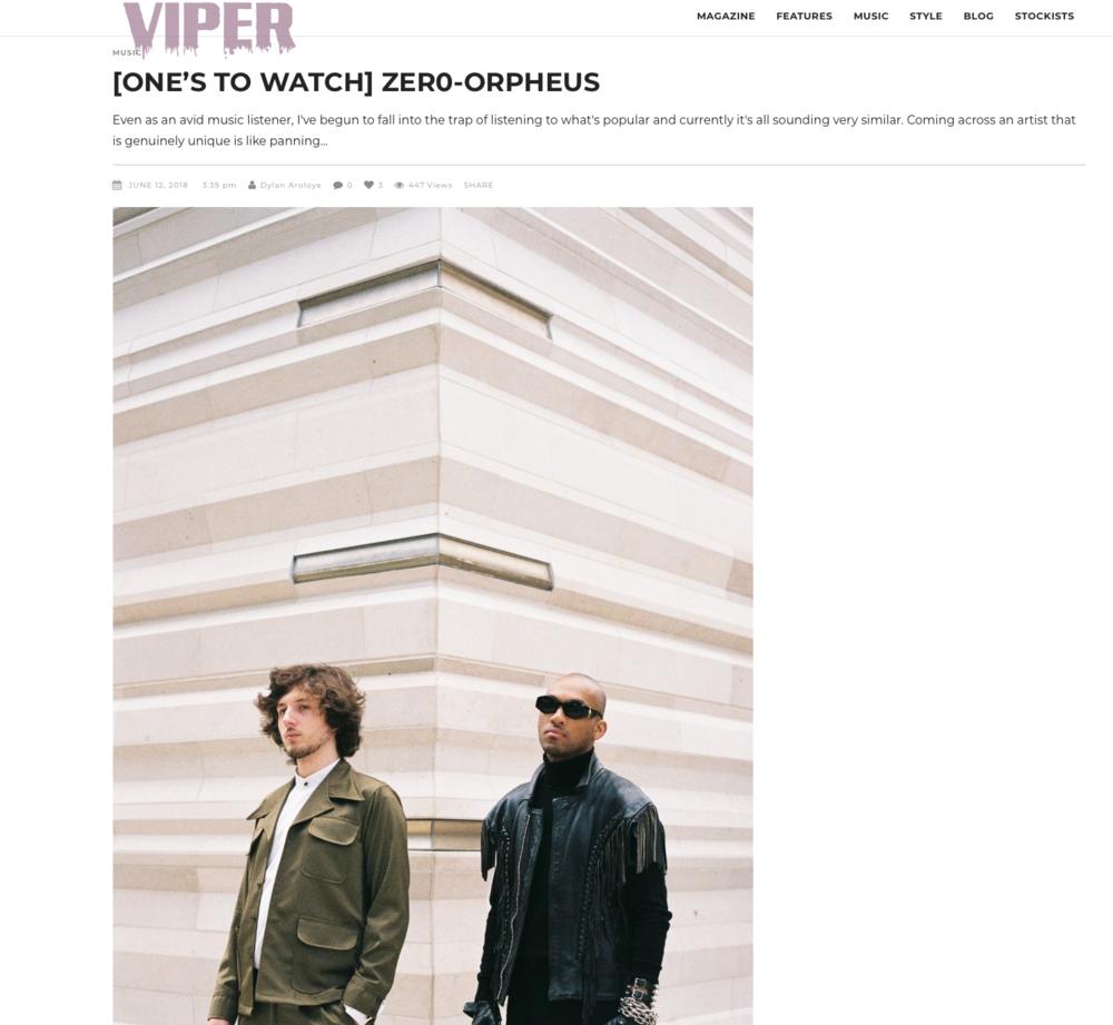 ZER0 X VIPER MAGAZINE -