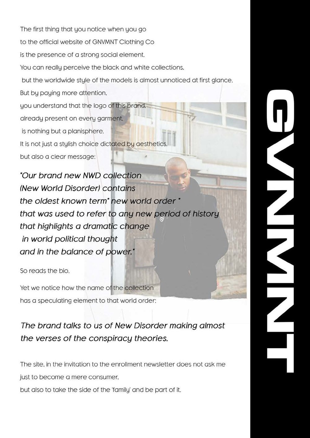 GVNMNT X NO FUTURE MAG -