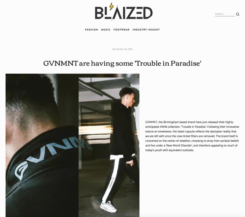 BLAIZED UK X GVNMNT -