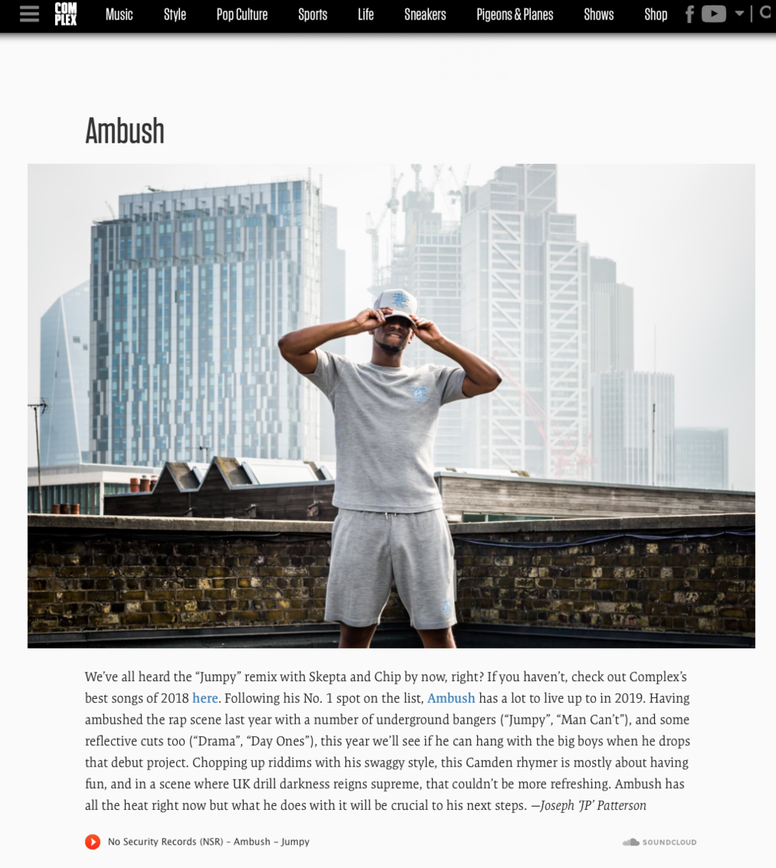 AMBUSH X COMPLEXONES TO WATCH 2019 -