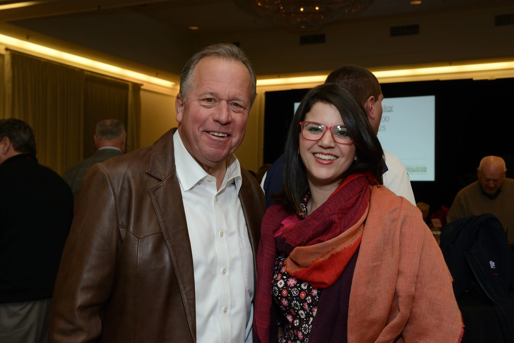 Senator Bill Dodd and Arts Council Napa Valley President & CEO, Olivia Dodd. Photo by Art and Clarity.