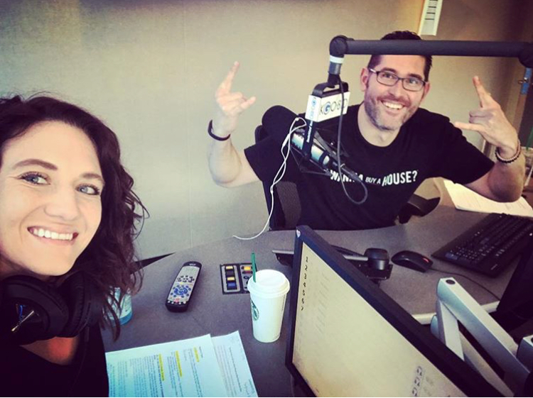 Greg and Tiffany in the KGO studio about to go on-air for Real Estate Radio Talk, every Sunday Morning from 8:00-9:00am on KGO810.