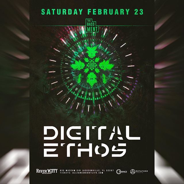 ***UPCOMING EVENT*** Artist: @_digitalethos  City: @jacksonville  Venue: @rivercitybrewingjax  Date : Feb 23rd - 21+ Event -  Ticket are moving fast. Don't sleep on it.