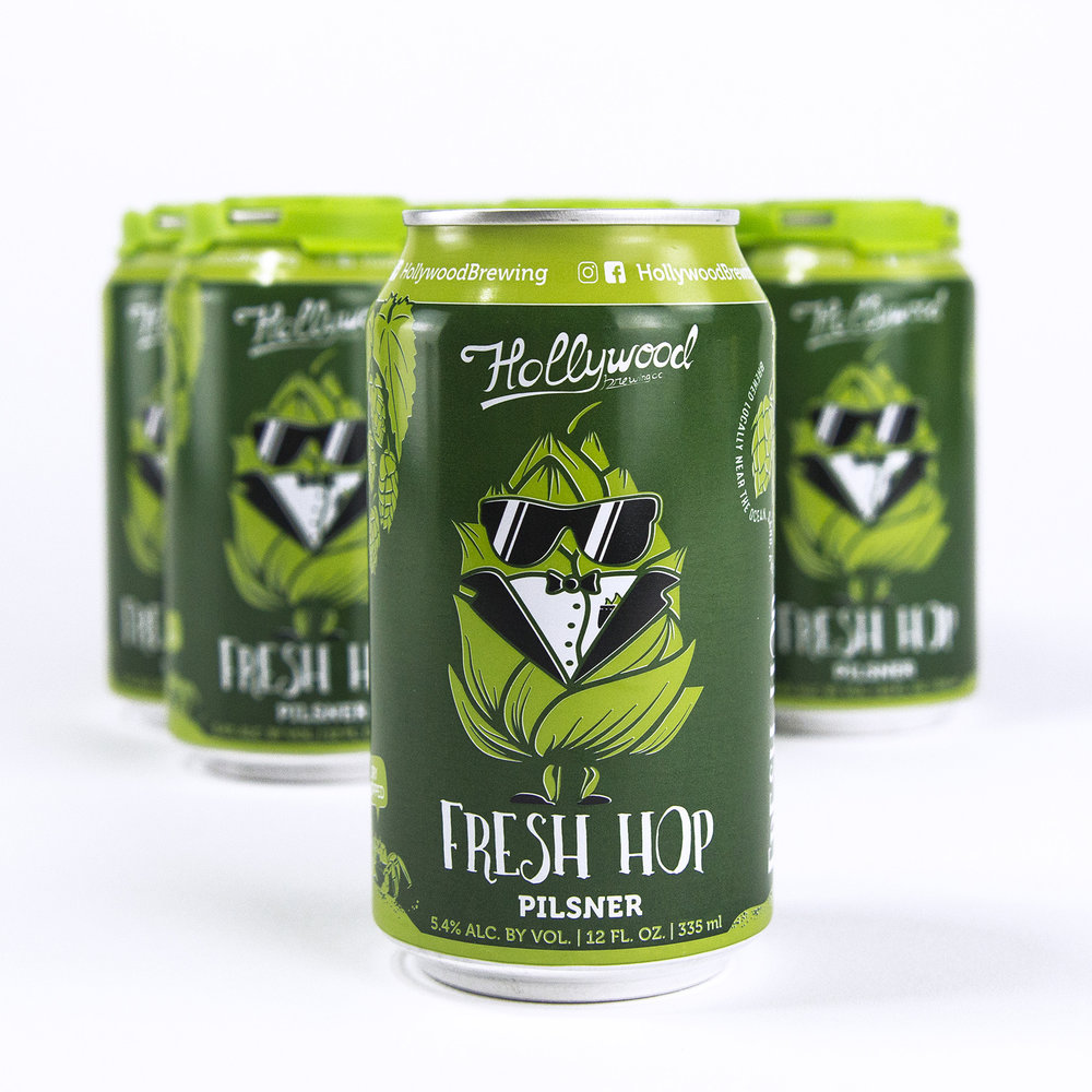 Fresh Hop Pilsner  Package & Draft
