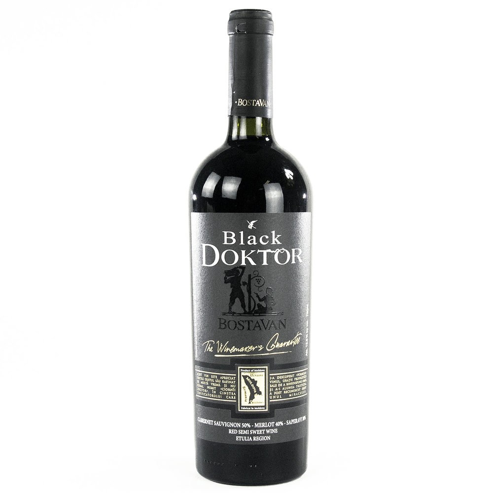 Bostavan Black Doktor Red Semi Sweet Wine
