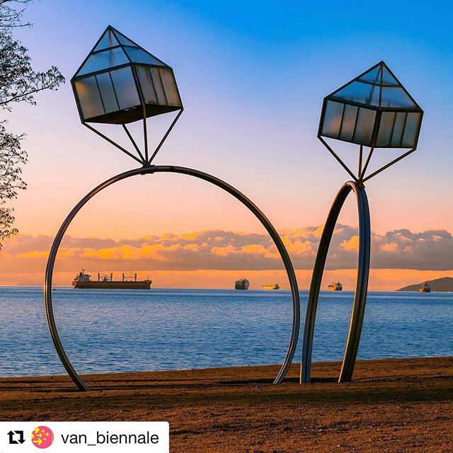 #Repost @van_biennale with @get_repost ・・・ Happy Pride, #Vancouver! Have a fabulous day of love and celebration. —— ENGAGEMENT by Dennis Oppenheim • Photo Credits: @admir23