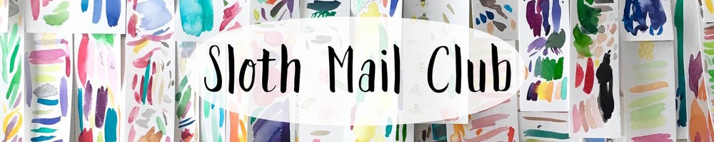 join the sloth mail club to stay in touch with amy richards illustration and get great illustrated freebies