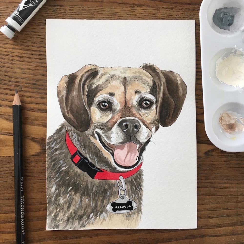 bd864089e78dd Custom Pet Portrait — Amy Richards Illustration
