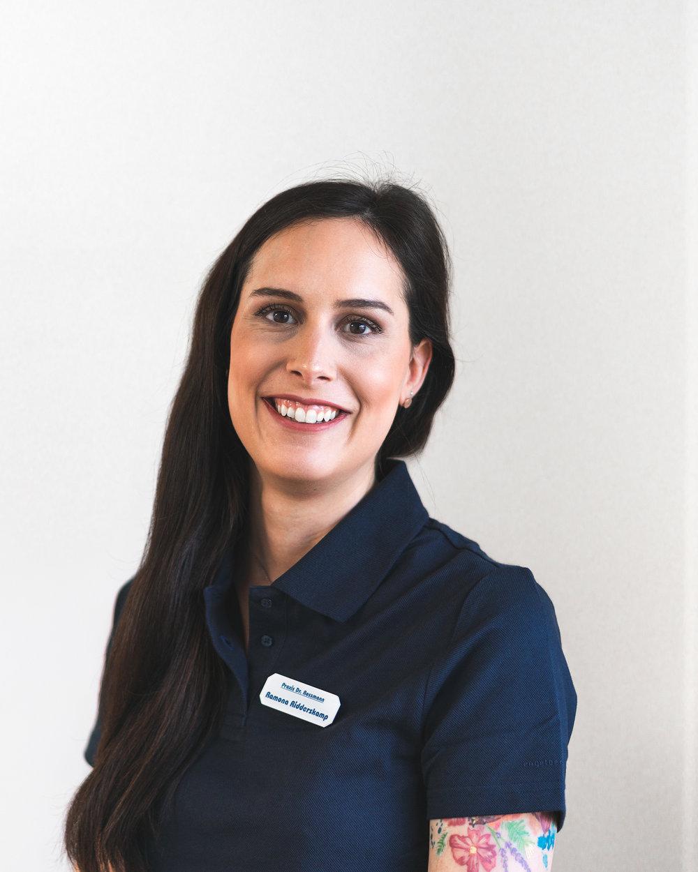 Ramona Ridderskamp   ZMP, geprüfte Zahnmedizinische Prophylaxe Assistentin