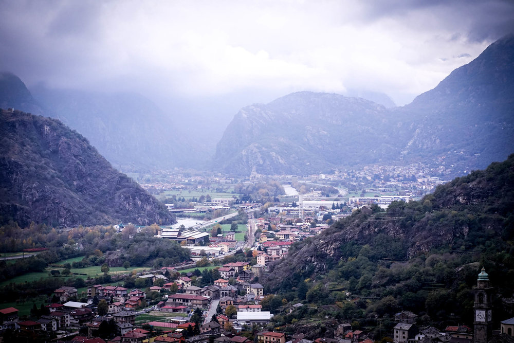 Carema, where Italy borders Switzerland and France, home to vineyards on steeply terraced land and known as a wine growing area for two thousand years.