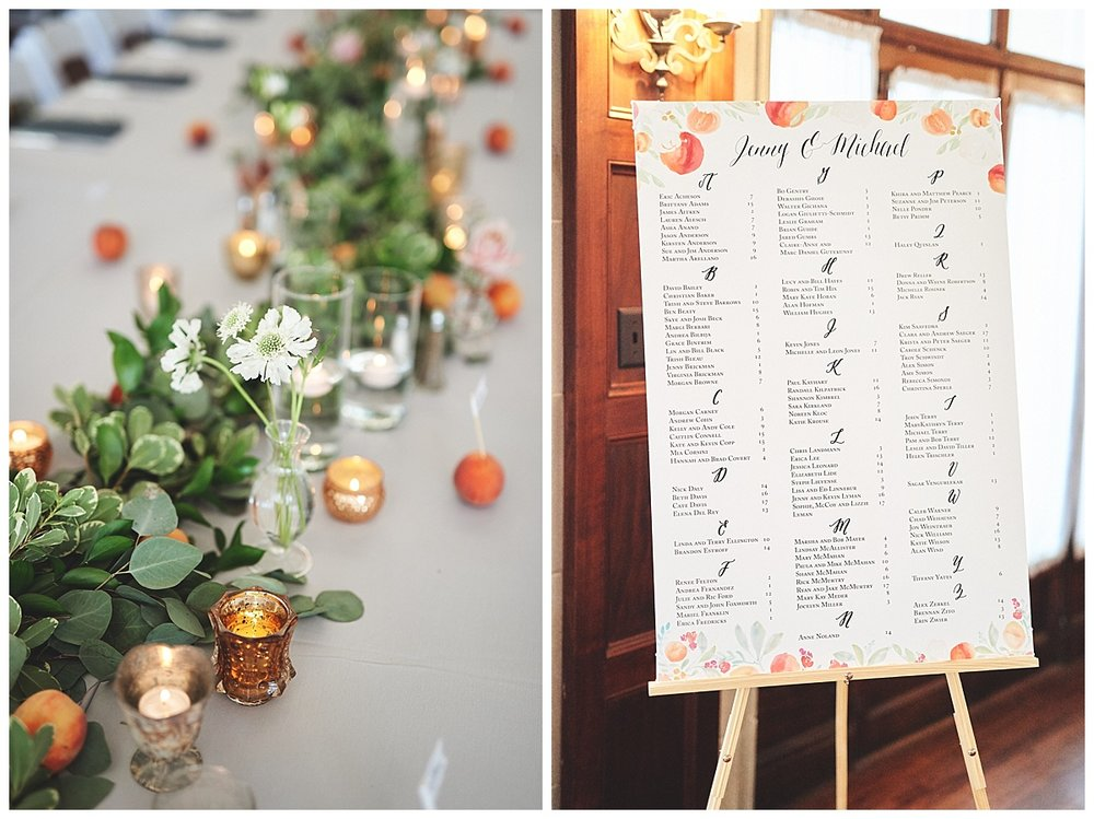 Georgia Peach Wedding Feature - Custom Seating Chart