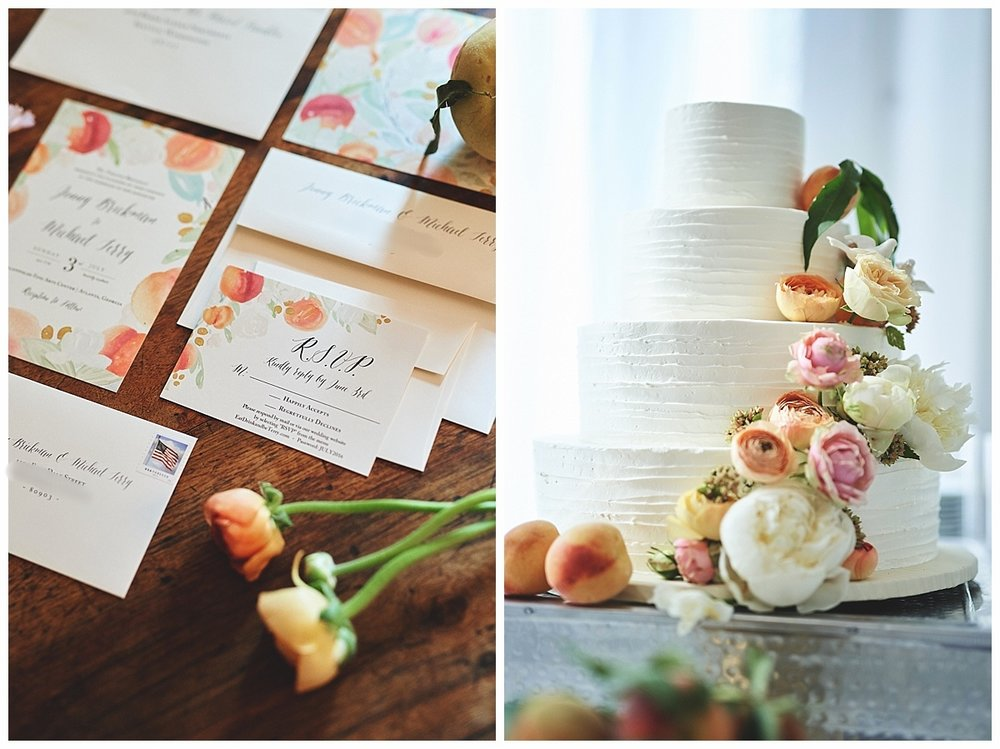 Georgia Peach Wedding Feature - Bespoke Stationery Suite