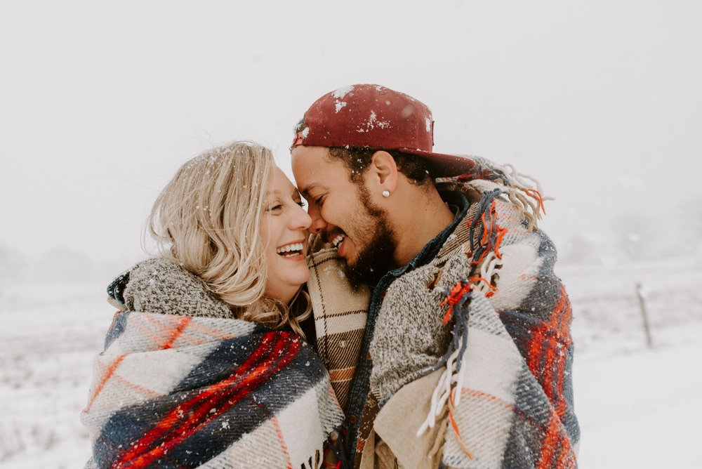 Darci + Nick | Snowy Iowa City Engagement