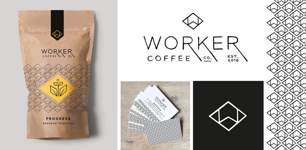 worker coffee branding