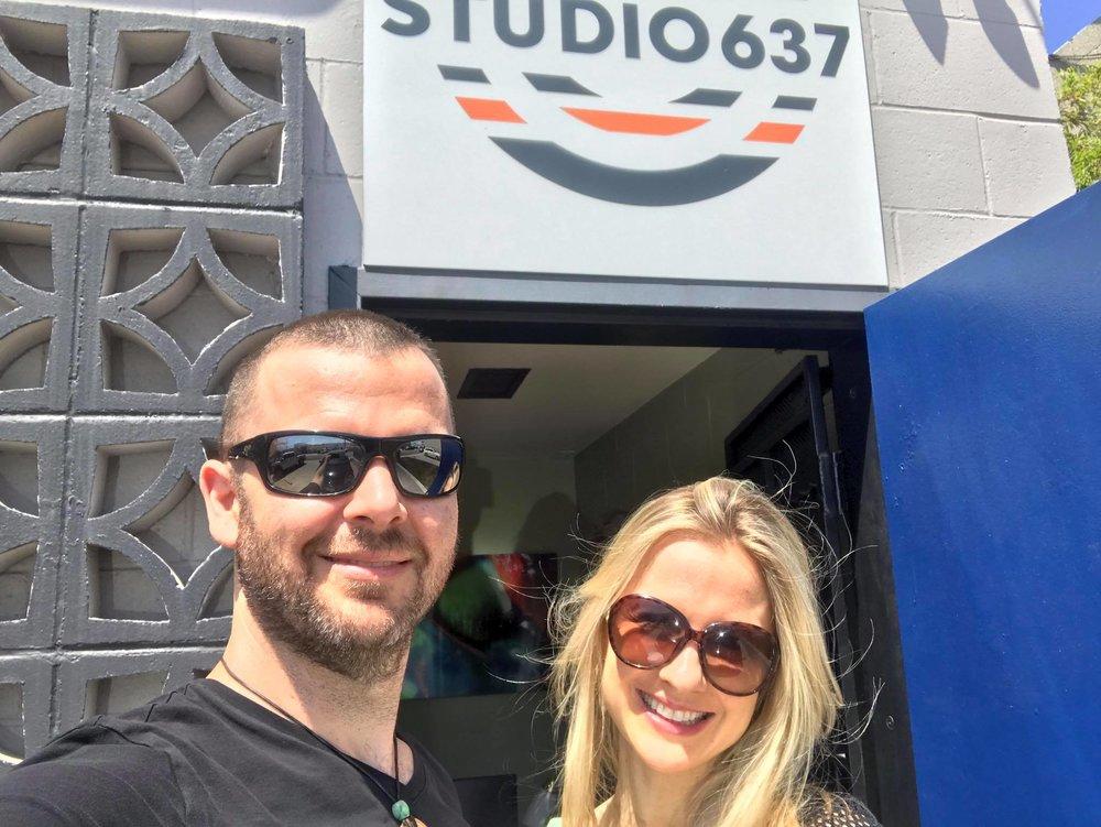 Getting to record Robin's beautiful vocal tracks at Studio 637 in LA…
