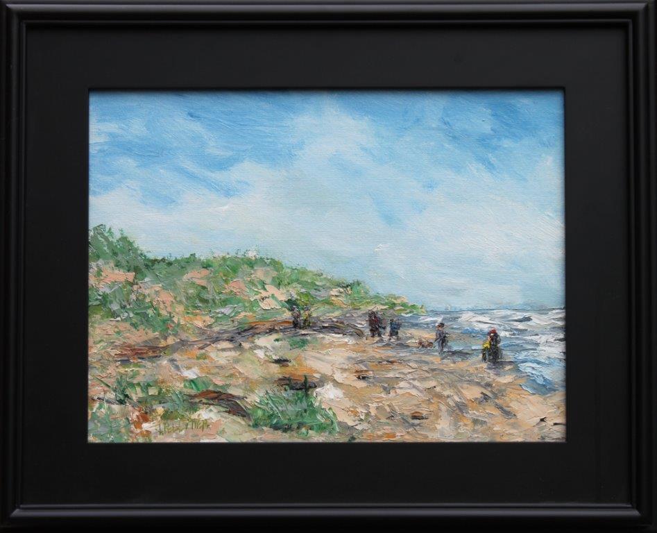 Beach Jaunt Oil on Canvas 12 x 16 $375.00