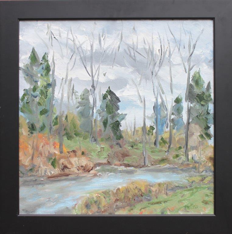 Canoe Canal Oil on Canvas 24 x 24 $425.00