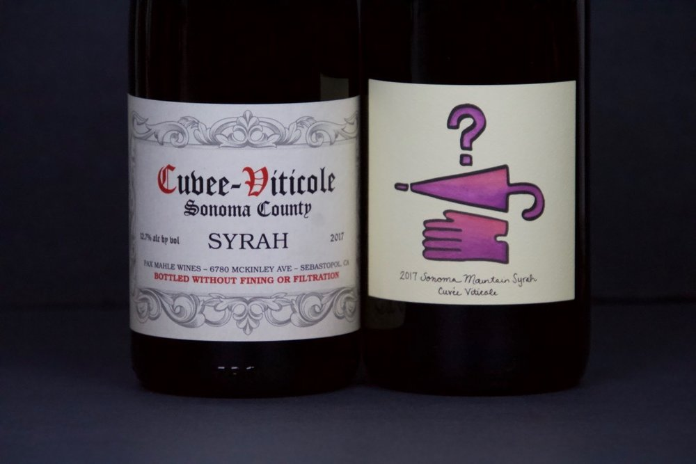 February 2019 - Pax Syrah & Lost and Found Syrah (Cuvee Viticole)
