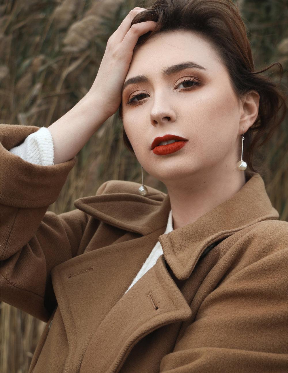 Coat - Vintage Sweater, Earrings - Jeanne Danjou