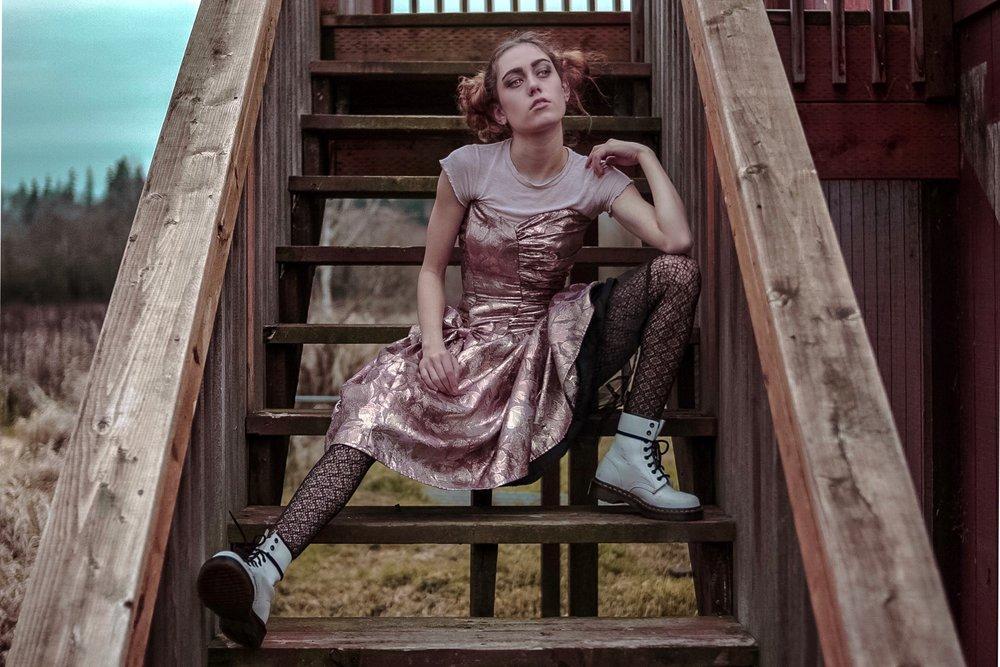 Shirt- Pacsun Dress- Gunne Sax Shoes- Doc Marten