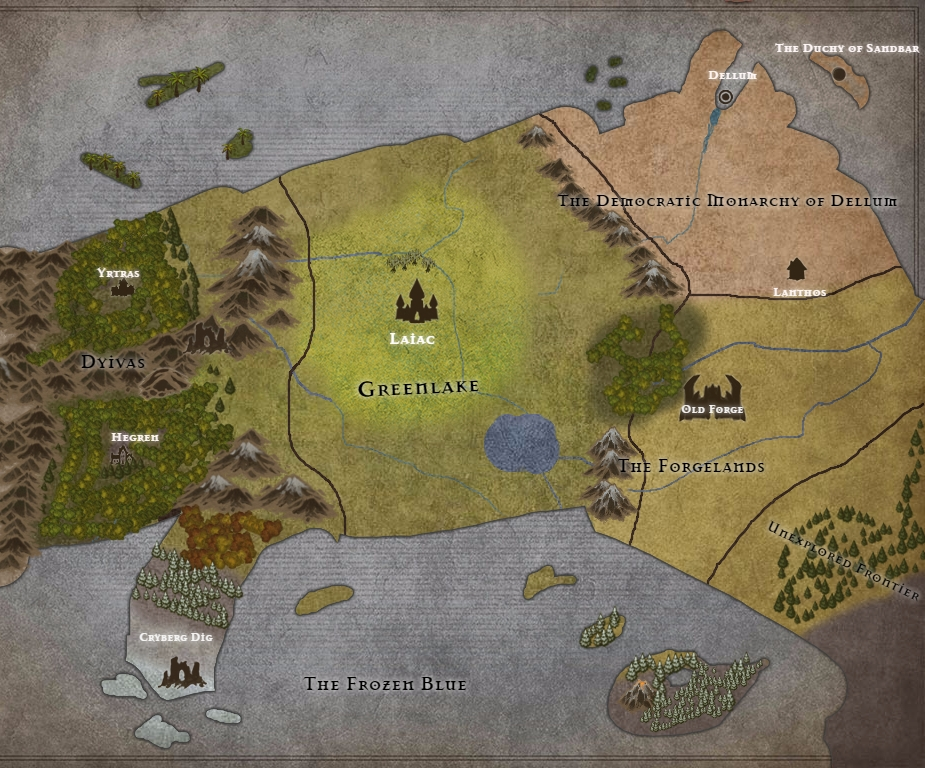 An early version of Growven. Both maps shown were made with Inkarnate.