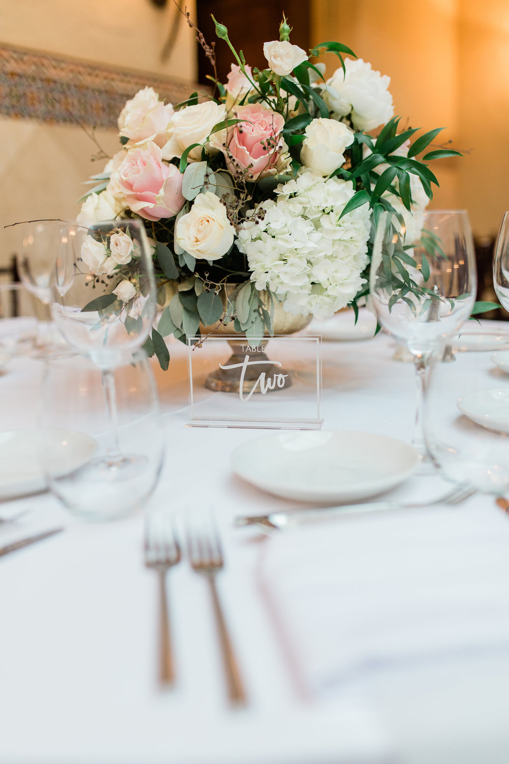 Blush Greenery Centerpieces at the Addison, Boca Raton Planning by Fleeting Elegance
