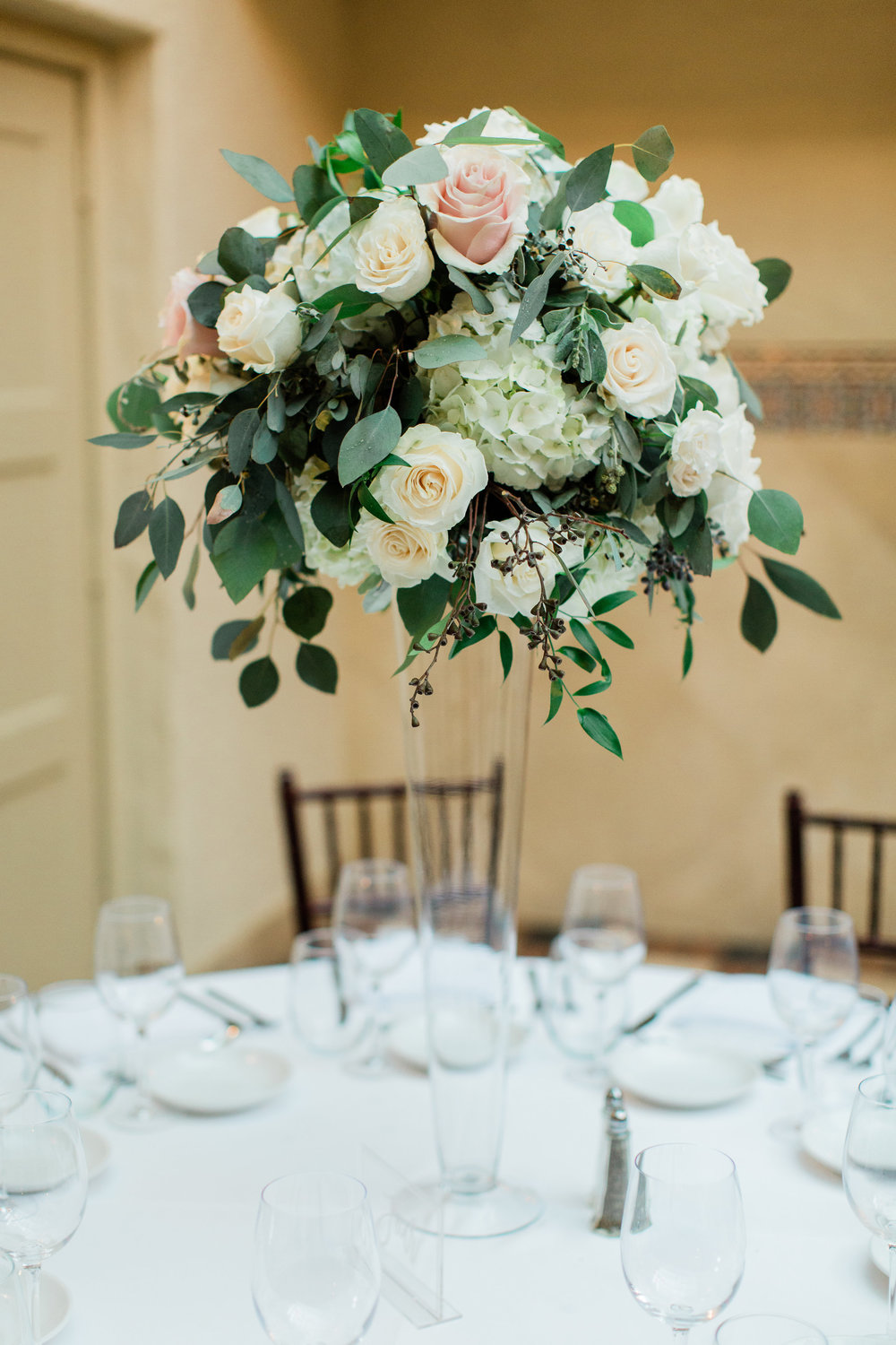 Lush Blush and Greenery Centerpiece by La Feterie, Boca Raton Wedding Planning by Fleeting Elegance
