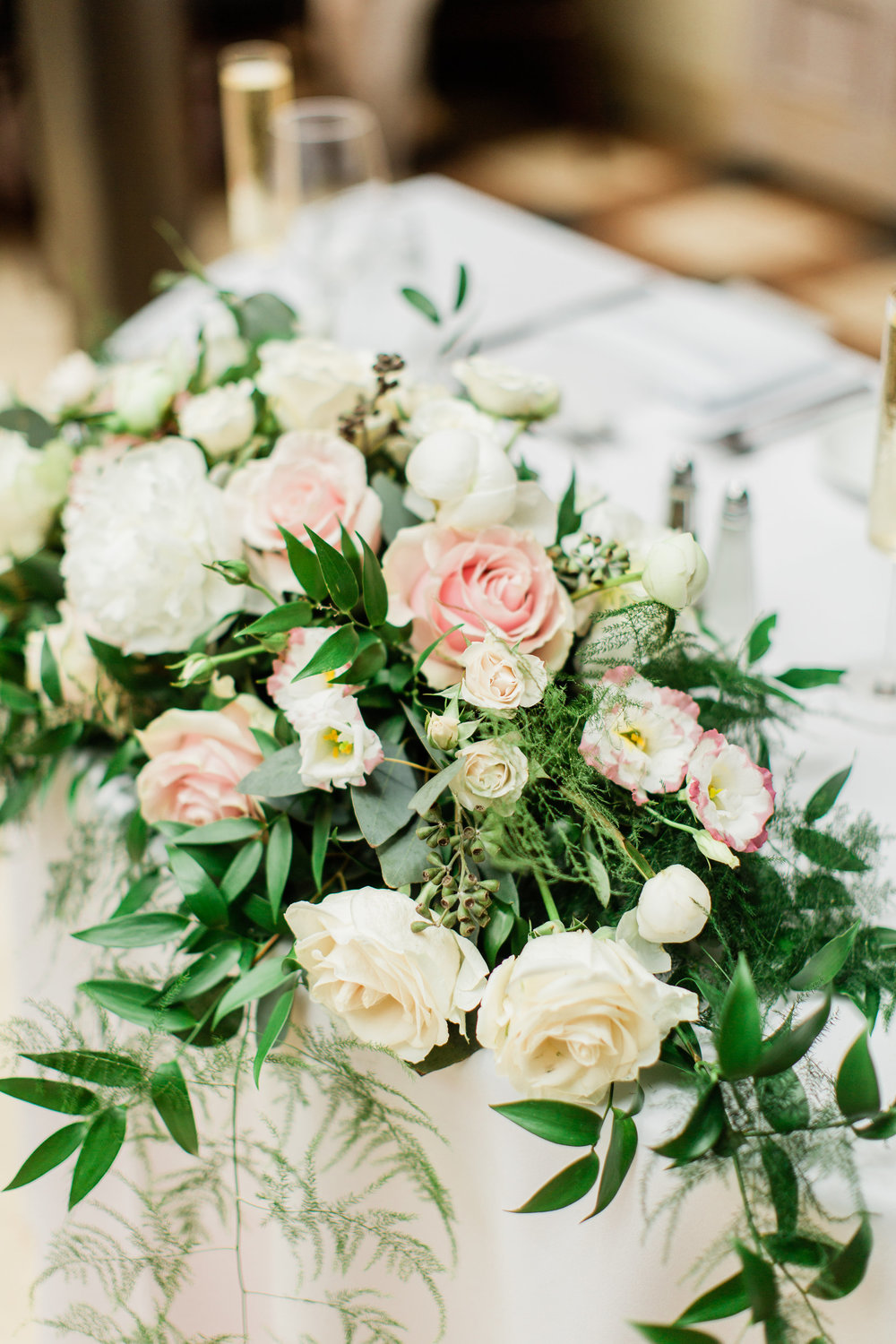 Blush Greenery Sweetheart Table by La Feterie South Florida Wedding Planning by Fleeting Elegance