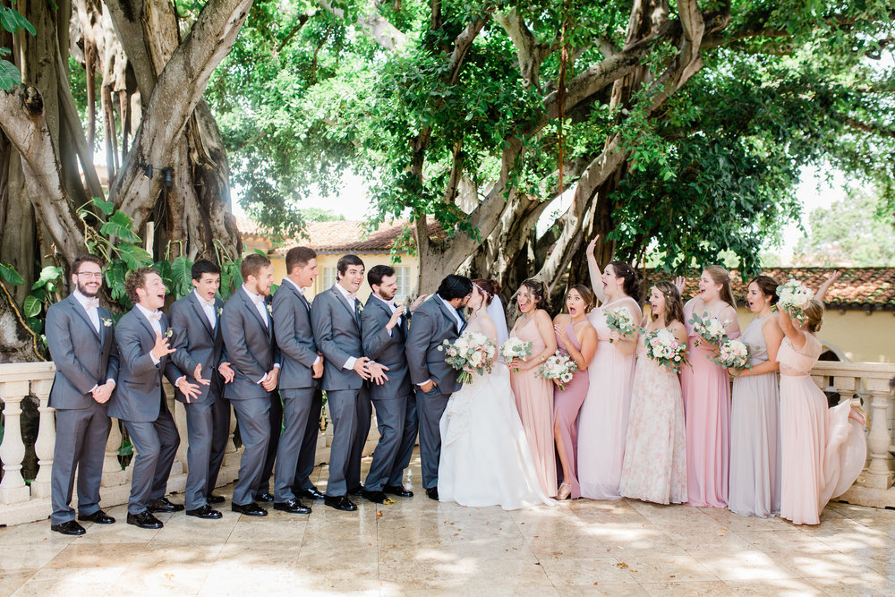 Blush Bridal Party in Boca Raton, FL  by Michela Brooke Photography Wedding Planning by Fleeting Elegance