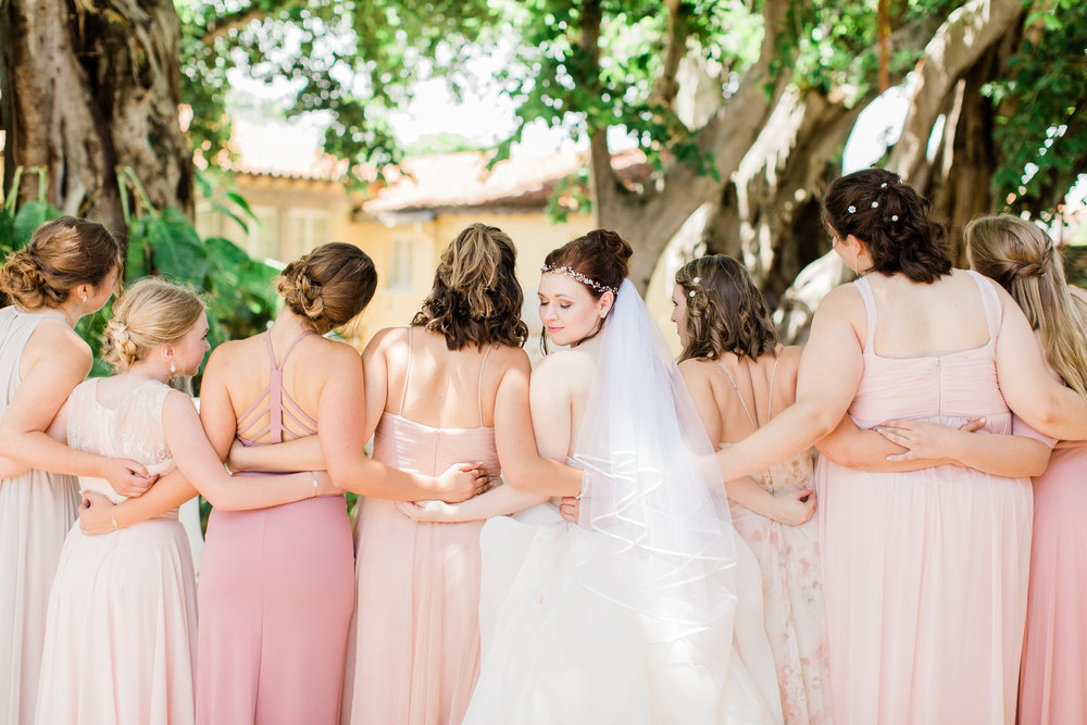Blush Bridal Party at The Addison Boca Raton Wedding Planning by Fleeting Elegance