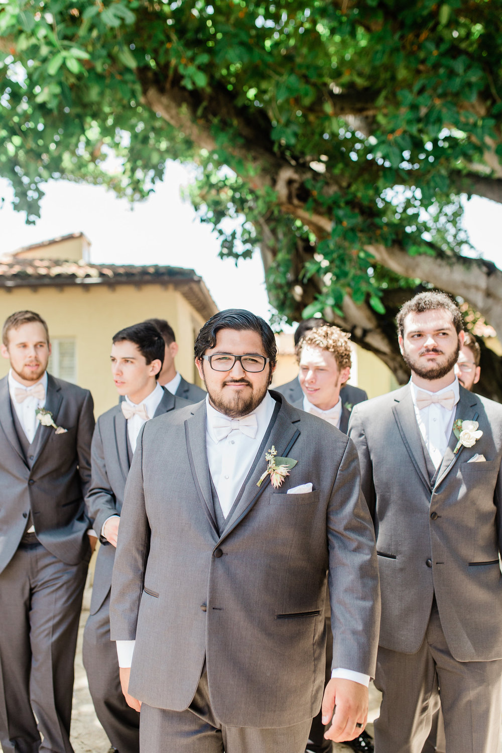 Grey and Blush Groomsmen Palm Beach Wedding Planning by Fleeting Elegance