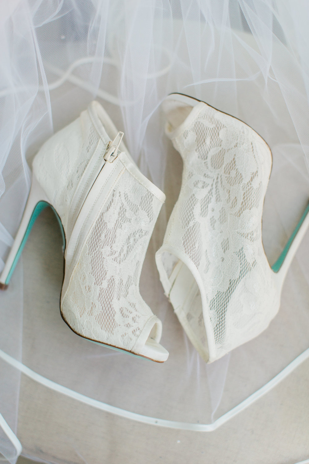 Lace Bridal Booties from Betsey Johnson, South Florida Wedding Planning by Fleeting Elegance