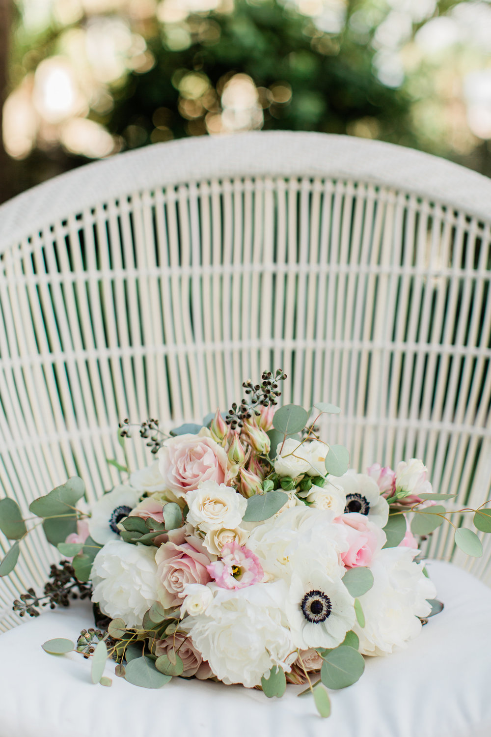 Blush and Greenery Bouquet by La Feterie Palm Beach Wedding Planning by Fleeting Elegance