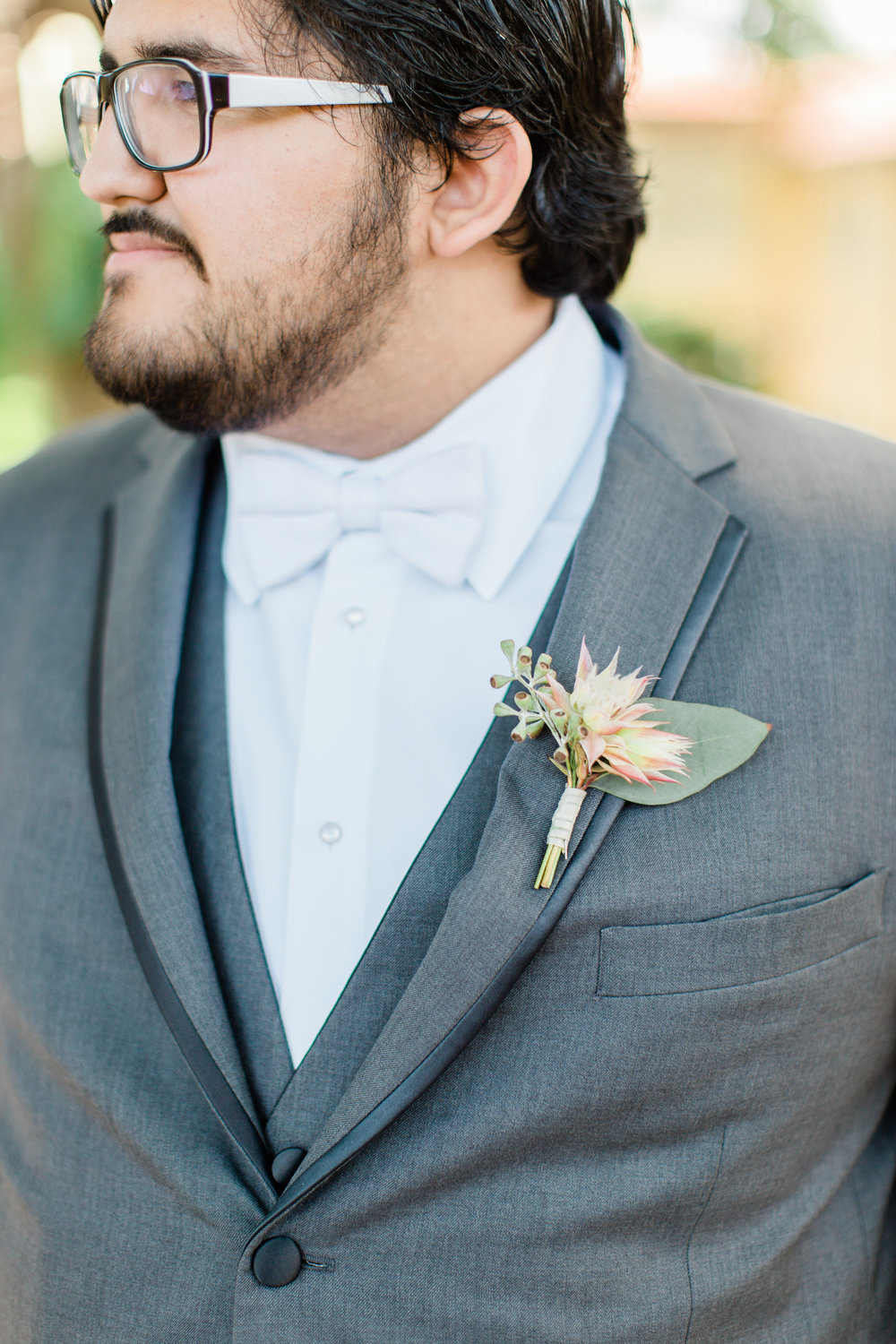 Grey Groom Tux Boca Raton Wedding Planning by Fleeting Elegance