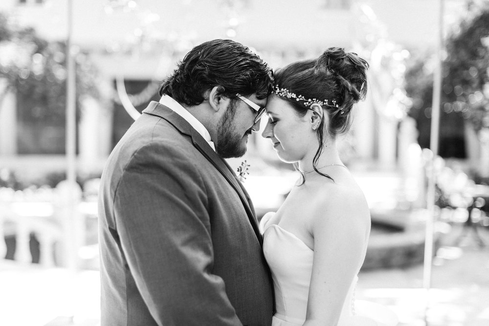 Black and White Wedding Portrait by Michela Brooke Photography, Palm Beach Wedding Planning by Fleeting Elegance