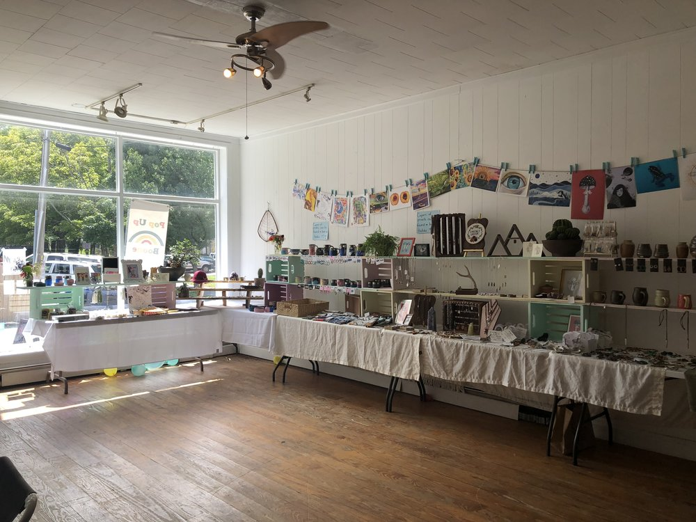 Access to a Marketplace - Pop Up Boone provides an entry level opportunity to makers in the High Country. Allowing emerging artists and makers to present and sell their work in a low-risk marketplace.