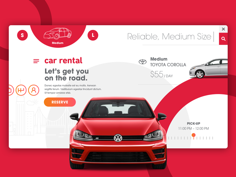 Car Rental Moodboard