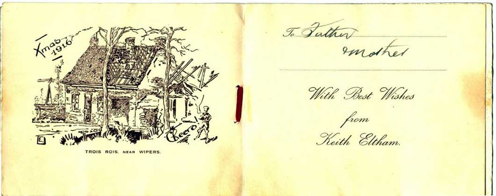 Cover of the 1916 Christmas card.